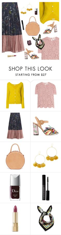 """Outfit of the Day"" by sproetje ❤ liked on Polyvore featuring P.A.R.O.S.H., Valentino, Markus Lupfer, Dolce&Gabbana, Mansur Gavriel, Chan Luu, Christian Dior, Le Métier de Beauté, Surratt and ootd"