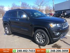 2014 Jeep Grand Cherokee Limited 56k miles $26,497 56886 miles 248-462-7433 Transmission: Automatic  #Jeep #Grand Cherokee #used #cars #GollingChrysler #Waterford #MI #tapcars