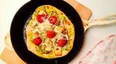 Pizza med ruccolapesto, fennikel og halloum - Green Bonanza