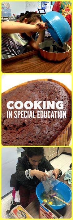 Step by step visual recipe to get your special education students independently baking their own birthday cupcakes!