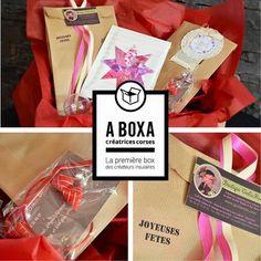 A Boxa est née de la collaboration de 10 créatrices insulaires pour proposer une box de cadeaux unique, sans abonnement. A boxa est une surprise unique créée et pensée par 10 créatrices corses. Voir le Site web : http://aboxa.fr