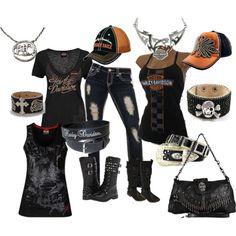 harley Davidson by designerhiddentreasures on Polyvore featuring Harley-Davidson and Olive & Pique