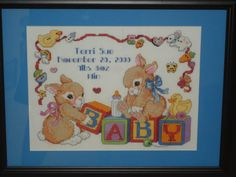 Birth Sampler Made to order cross stitch