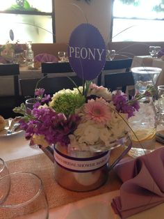 Watering Can Centerpieces Made By More Than A Gift Newark NJ