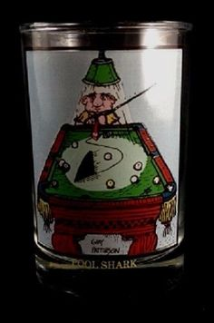 ARBY'S 1982 GARY PATTERSON Pool Shark Glass Collection Series #Arbys