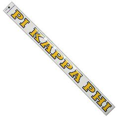 Pi Kappa Phi long car decal is approximately in height. Decal comes as shown and is meant to be placed on the inside of the window. Just peel and stick. Rush service is available for of the total, this service can be selected during checkout. Pi Kappa Phi, Greek Gifts, Fraternity, Car Decals, Window, Accessories, Style, Products, Swag