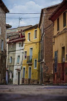 Calles de Albeta, a los pies del Moncayo. Provincia de Zaragoza.  Spain