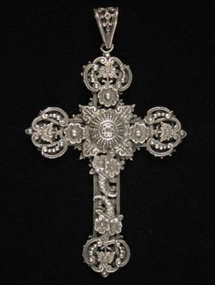 Jewelry Gallery - Large silver crucifix