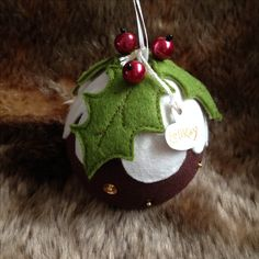 Handcrafted Christmas Pudding Decorations x pop over to my LeliKay Facebook page for more unique gifts.!