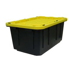 Centrex Plastics, LLC Commander 17-Gallon Black Tote with Standard Snap Lid