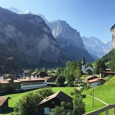 Situated in one of the valleys of the Alps, between gigantic rock faces and mountain peaks, #Lauterbrunnen #Switzerland is home to 72 waterfalls, colorful alpine meadows, and the starting point to the best known excursion to the #topofeurope.