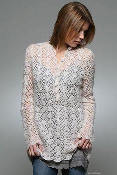 Tejidos - Knitted - lace sweater crochet patterns crochet crochet pattern sweater may 4 th . Crochet Bolero, Gilet Crochet, Crochet Cardigan, Crochet Lace, Crochet Diagram, Crochet Tops, Crochet Sweaters, Crochet Doilies, Crochet Woman