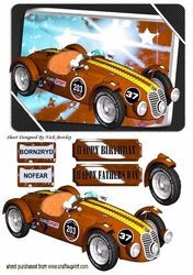 BORNT2RYD Brown sports car with NOFEAR on Craftsuprint - View Now!