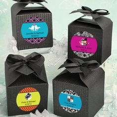 Design Your Own Decorative Boxes - Black wedding favors
