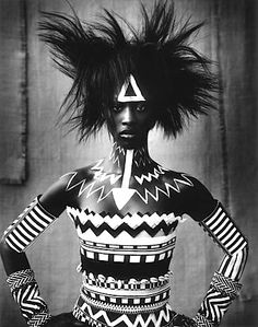 tribal fashion look. More