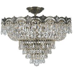 Crystal Lighting Palace Venetian 5 Light Crystal Chrome FInish Chandelier, Clear from Houzz | Martha Stewart