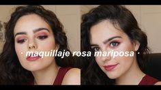 maquillaje rosa mariposa