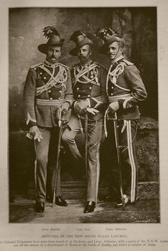Boer War Officers of the New South Wales Lancers
