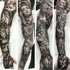 Full arm tattoo