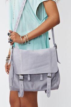 Lilac messenger bag. Love this color.