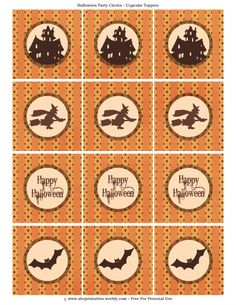Free Halloween Decorations halloween decorations vectors Decorate Your Spooky Cupcakes With These Free Printable Halloween Cupcake Toppers
