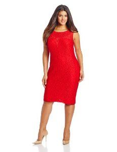 22a231d013f Anne Klein Women s Plus-Size Plus Rose Lace Fit and Flare Layered Dress  Anne Klein
