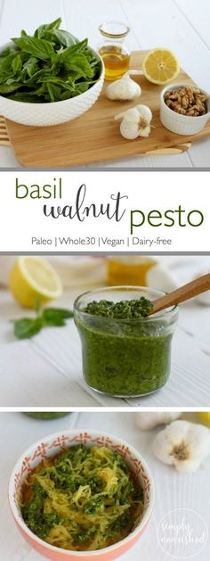 """Basil Walnut Pesto 