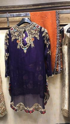 Beutifull wedding party dress in dark purple color work embellished with threds dabka nagh zari naqshee and crystals work.(Please Ask Us Your exact Dresses are Manufactured designs/Cutting/stitching Under The Supervision Indian Wedding Party Dresses, Pakistani Party Wear Dresses, Wedding Dresses For Girls, Pakistani Outfits, Fancy Dress Design, Stylish Dress Designs, Bridal Dress Design, Designs For Dresses, Stylish Dresses For Girls