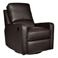 Opulence Home Perth Swivel Glider Recliner, Brown