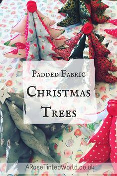 Padded fabric Christmas trees make a great table centrepiece or gift and they are easy to make. Find out how to make them and get my FREE TEMPLATE here! Christmas Decorations Sewing, Fabric Christmas Trees, Christmas Sewing Projects, Easy Sewing Projects, Sewing Crafts, Christmas Crafts, Christmas Ornaments, Christmas Décor, Tree Patterns