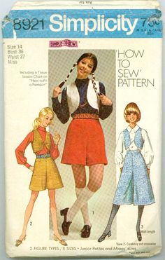 culottes ! My mom made them in a below the knee length, along with a matching vest...cool!