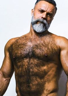 Best Picture For hairy chest tattoo For Your Taste You are looking for something, and it is going to Scruffy Men, Hairy Men, Grey Beards, Male Pattern Baldness, Perfect Beard, Beard Lover, Bear Men, Papi, Hairy Chest