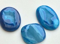 WHOLESALE 3 Pcs Blue Window Druzy Fresh Blue by gemsforjewels