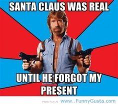 Christmas jokes Santa vs Chuck Norris