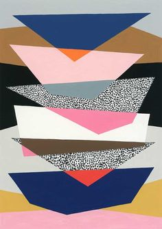 Etsy の Strata No1 limited edition giclee print by EloiseRenouf