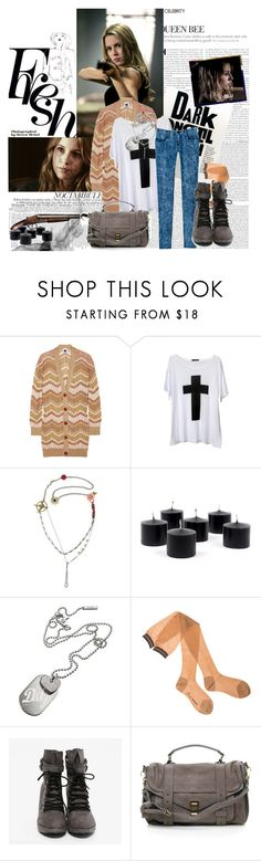 """Supernatural: Jo Harvelle."" by sub-marine-mission ❤ liked on Polyvore featuring Missoni, Juicy Couture, D&G, Roxy, Proenza Schouler, Garance Doré, combat boots, acid wash jeans, jo harvelle and background"