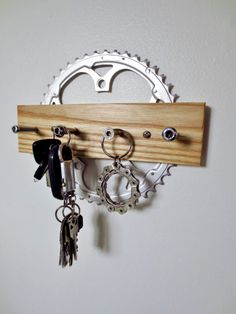 Key Rack , Bicycle Accessories , Recycled Bicycle , Dog Leash Rack , Sports , Bicycle Jewelry