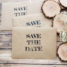Save the Date Wedding Invitation Envelope Stamp