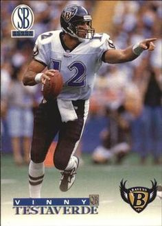 1996 Score Board Ravens/Exxon #1 Vinny Testaverde Front