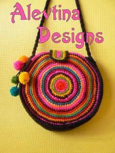 Lovely colorful circle stripy bag