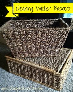 How to Clean Your Wicker Basket