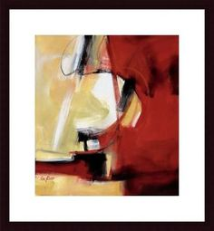 Movement in Red by Eva Carter Framed Painting Print