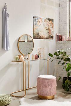 40 Fantastic DIY Vanity Ideas Here is a minimalist vanity. Apartment Furniture, Home Furniture, Plywood Furniture, Modern Furniture, Furniture Design, Urban Outfitters Bedroom, Urban Outfitters Apartment, Urban Outfitters Furniture, Deco Baby Shower