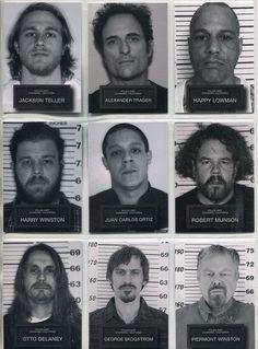 Sons Of Anarchy Seasons 6 & 7 Complete Mug Shots Chase Card Set Serie Sons Of Anarchy, Sons Of Anarchy Samcro, Charlie Sons Of Anarchy, Jax Teller, Movies And Series, Tv Series, Sons Of Arnachy, Jackson Teller, Netflix