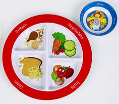 MyPlate for Kids Plate With Dairy Bowl - Healthy Kids Plates