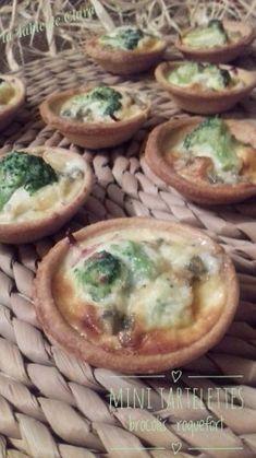 Mini tartelettes brocolis roquefort
