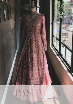 Photo By Pashmina Design Studio - Bridal Wear Indian Bridesmaid Dresses, Indian Bridal Outfits, Pakistani Bridal Dresses, Wedding Dresses For Girls, Shadi Dresses, Indian Gowns Dresses, Designer Party Wear Dresses, Indian Designer Outfits, Beautiful Dress Designs