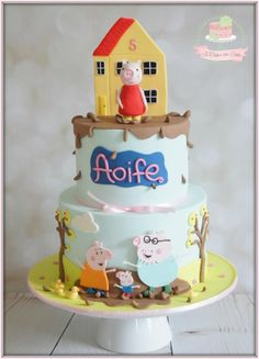 Peppa Pig by Jo Finlayson (Jo Takes the Cake) Peppa Pig Birthday Cake, Pig Party, Take The Cake, Tiered Cakes, Cakes And More, Cake Art, Party Cakes, Amazing Cakes, Pig Cakes