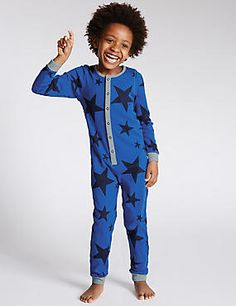 Pure Cotton Star Print All-in-One (1-8 Years)