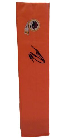 Brian Orakpo signed Washington Redskins full size football touchdown end zone pylon w/ proof photo.  Proof photo of Brian signing will be included with your purchase along with a COA issued from Southwestconnection-Memorabilia, guaranteeing the item to pass authentication services from PSA/DNA or JSA. Free USPS shipping. www.AutographedwithProof.com is your one stop for autographed collectibles from Texas Longhorns & NCAA teams. Check back with us often, as we are always obtaining new items.